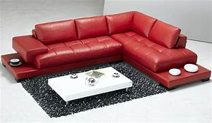 18 stylish modern red sectional sofas for Red leather sectional sofa with recliners