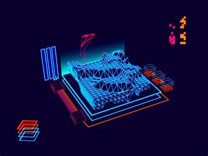 Futuristic Interface Retro Sheep Wolf Dribbble Visuals