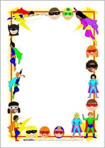 Childrens Halloween Books Uk by Superhero A4 Page Borders Sb2196 Sparklebox