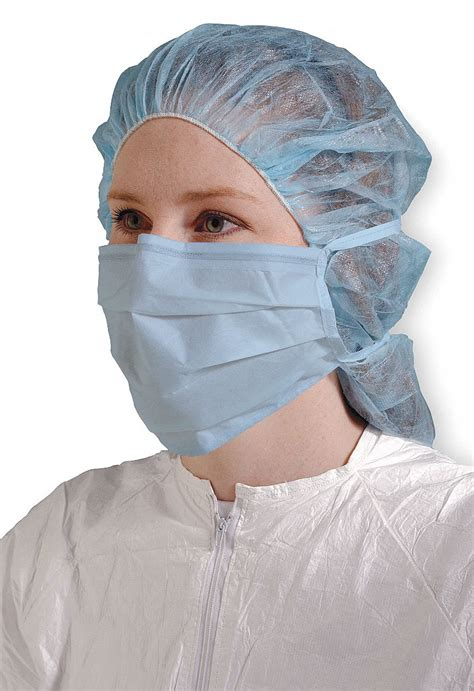 dupont cleanroom mask ear loops nose clip  blue