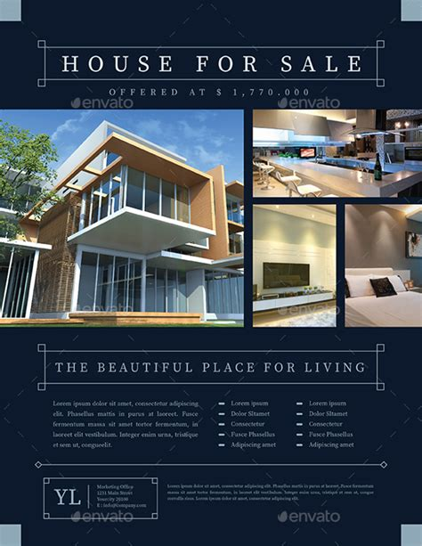 real estate flyer templates ai word psd eps