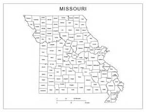 Printable Missouri Map with Counties
