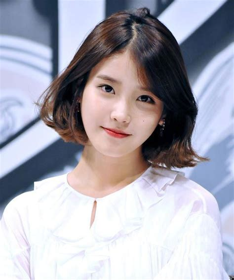 cute iu short hairstyle iu short hair styles for round