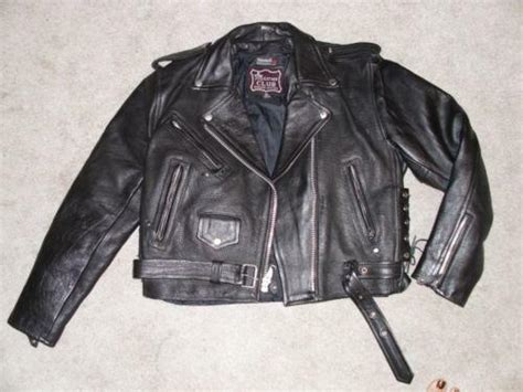 Used Xl Mens Leather Motorcycle Jacket
