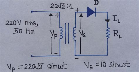 Half Wave Rectifier Circuit Diagram Ripple Factor
