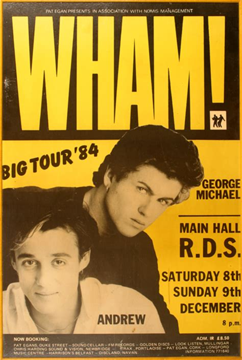 wham poster wham 1984 concert poster a poster for the dublin dates