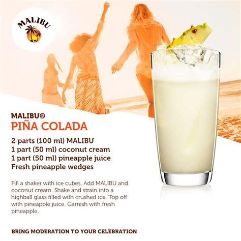 pina colada recipes the classic malibu pina colada cocktails and recipes pinterest