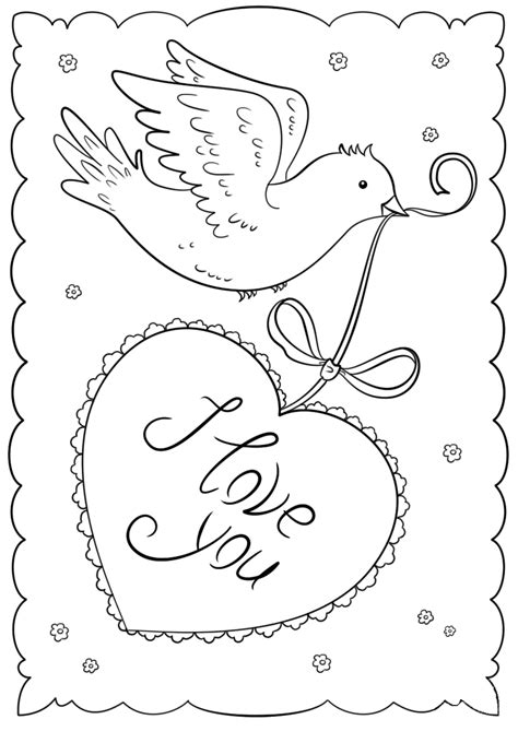 printable valentines day cards  coloring pages  kids