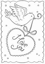 Coloring Cards Printable Valentines Valentine Happy Crafts Template Supercoloring Sorry Printables Drawing sketch template