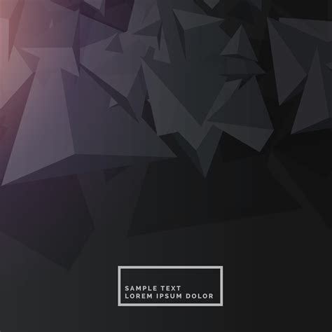 Abstract Black Vector Background by Black Background With Abstract Polygon Shapes