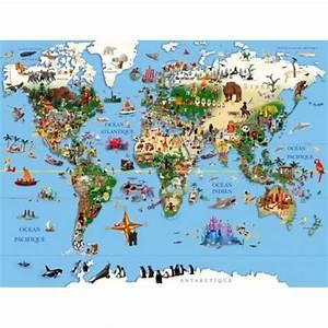 Tableau Du Monde : tableau enfants d co carte du monde par richard unglik ~ Teatrodelosmanantiales.com Idées de Décoration