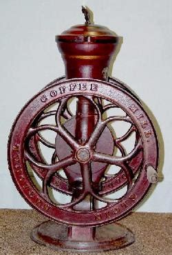 coffee mill elgin national   counter top  wheels
