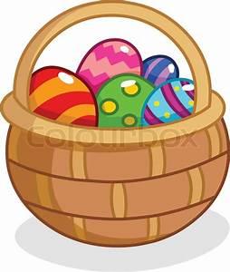 Cartoon Easter egg basket   Stock Vector   Colourbox