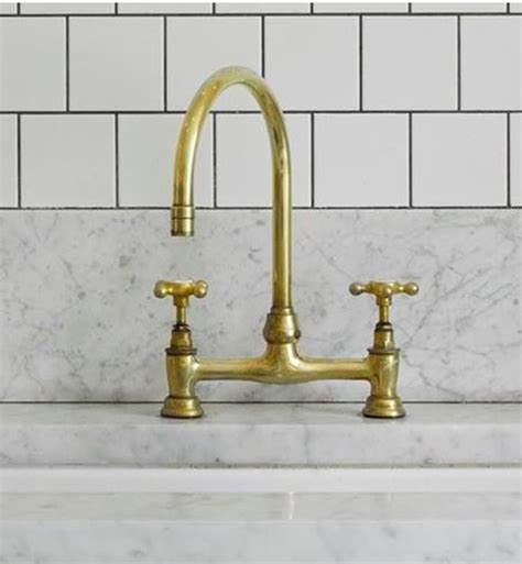 Unlacquered Brass Bridge Faucet by Unlacquered Brass A Living Finish