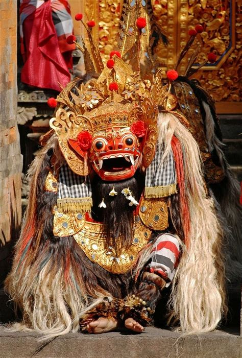 Barong Bali Donker the mighty barong danced by two barong is a