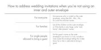 how to address wedding invitations how to address wedding invitations if you 39 re not using an inner and outer envelope