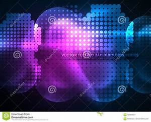 Shiny Neon Glowing Circles  Dot Particles Structure Stock
