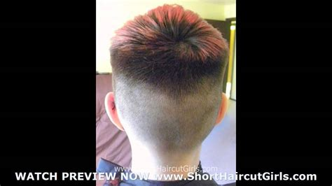 bald fade short haircut girls bald fade youtube