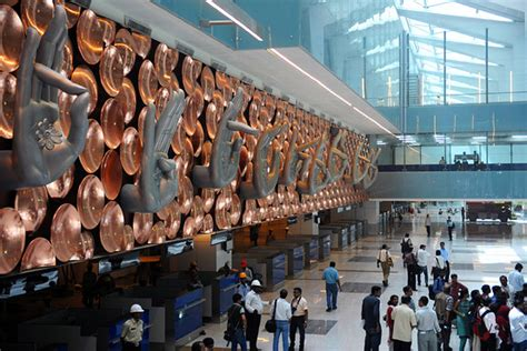 qa delhi airports hands sculpture india real time wsj