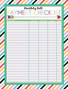 i should be mopping the floor: Free Printable Monthly Bill