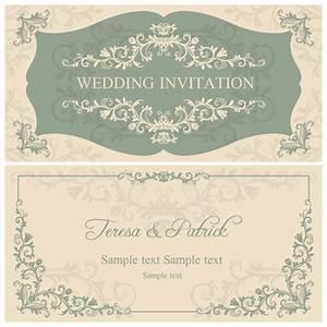 elegant floral decorative wedding invitation vector cards With elegant floral wedding invitations vector
