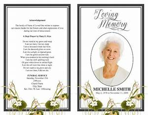 funeral program template With funeral handouts template