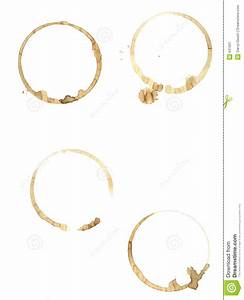 Coffee Rings On Pure White Paper. Stock Image - Image: 631931