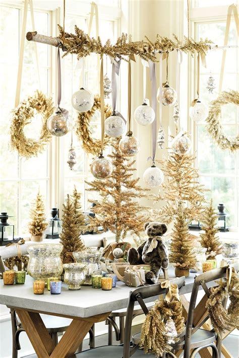 Weihnachtsdeko Fenster Edel by Tischdeko Zu Weihnachten In Gold Und Silber 32 Ideen
