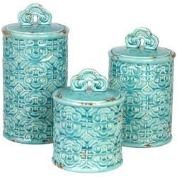 teal kitchen canisters chinois canister set for the home beautiful turquoise and kitchen colors