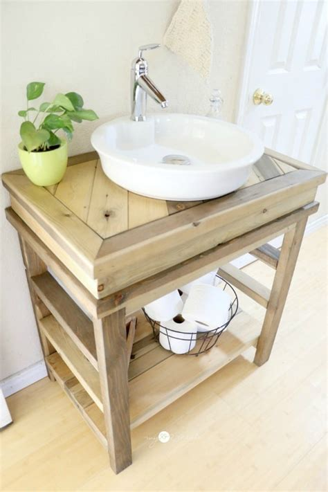 build a bathroom vanity diy wood projects work it wednesday the blissful bee