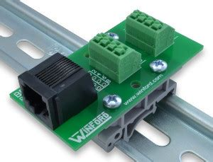 rj45 8p8c modular breakout board with connection terminals winford engineering