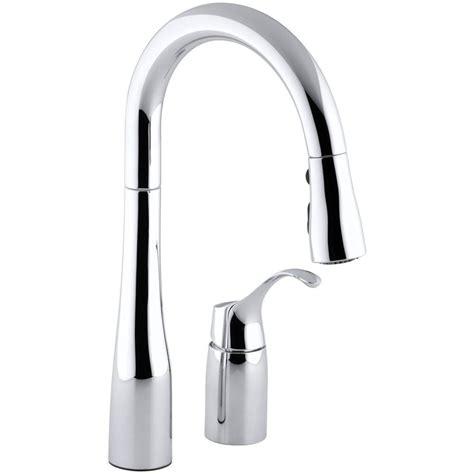 kohler simplice kitchen faucet kohler simplice single handle pull down sprayer kitchen faucet in polished chrome k 649 cp the