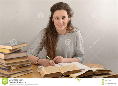 Student Study History Stock Photo Image Female