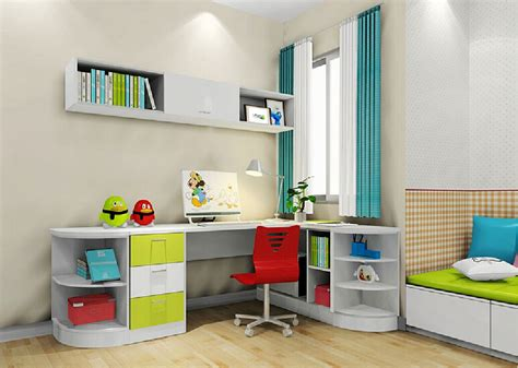 D Interior Design Kids Room Corner Desk