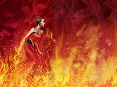 artwork, Fantasy Art, Fire Wallpapers HD / Desktop and ...