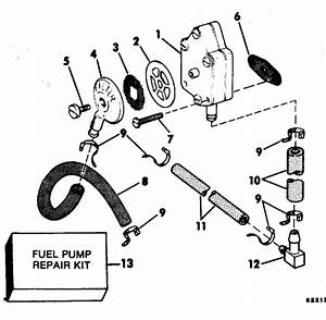 Evinrude Fuel Pump Parts For 1983 25hp E25telcte Outboard