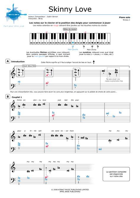 partition piano gratuite facile
