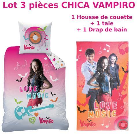 chambre fille princesse disney chica vampiro lot 3pcs housse de couette 140x200