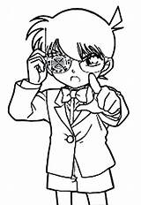 Coloring Detective Conan Bullet Drug Targeting Shoot Mori Getcolorings Getdrawings Button Using sketch template