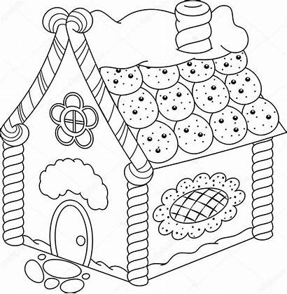 Christmas Candy Coloring Pages Printable Gingerbread Adult