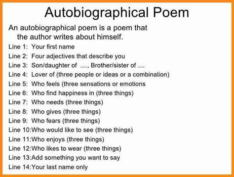 bio poem   model resumed pertaining