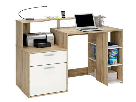 ordinateur de bureau chez carrefour bureau 1 porte 1 tiroir 3 niches oracle coloris blanc et ch 234 ne vente de bureau conforama