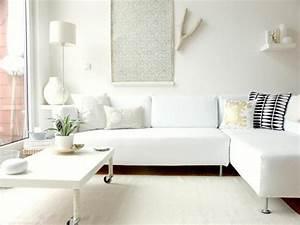 15, Serene, All, White, Living, Room, Design, Ideas