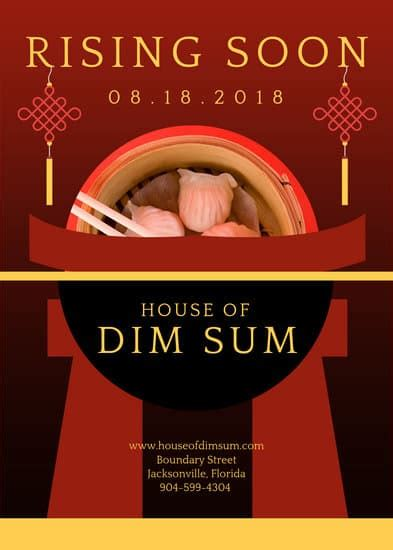 chinese restaurant flyer templates  canva