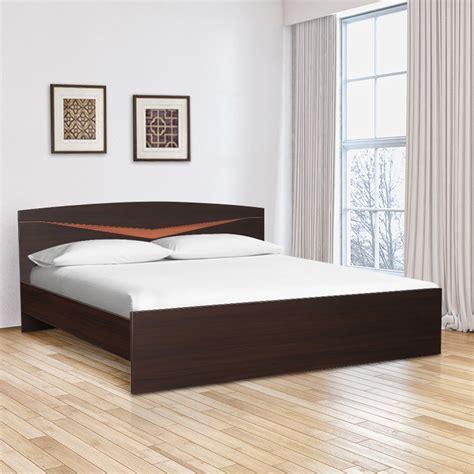 buy viking engineered wood queen size bed  denever oak