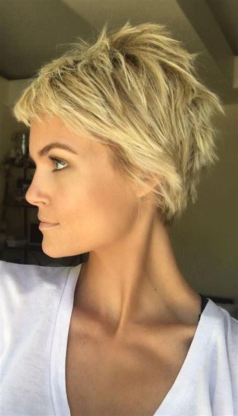 Choppy Pixie Hairstyles by Choppy Blond Pixie Cut In 2019