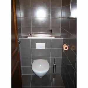Wc Lave Main Intégré : wc suspendu avec grand lave main int gr wici bati ~ Dailycaller-alerts.com Idées de Décoration
