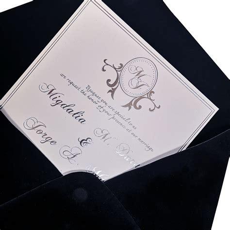 Large Black Velvet Condolence Box Luxury Wedding