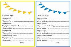 baby shower game card templates baby shower game With baby shower wish list template