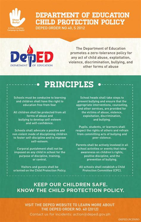 deped child protection policy infographics  deped